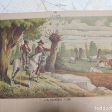 Arte: LITOGRAFIA GRANDE. LIDIA 1884 [S.19]. Lote 128750047