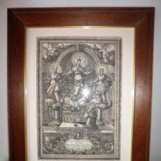 Arte: ANTIGUO GRABADO SIGLO XVIII - INDULGENCIAS CARDENAL BORGIA - EXCEPCIONAL.. Lote 128820751