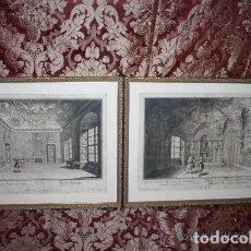 Arte: J2-011. PAREJA GRABADOS FRANCESES. TEMAS PALACIEGOS. SALOMON KLEINER (1703-1761). Lote 128861019