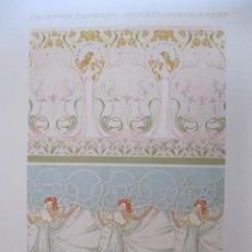 Arte: FIGURAS FEMENINAS Y MOTIVOS GEOMÉTRICOS Y VEGETALES, ART NOUVEAU, 1890. LEHNER Y MADER. Lote 128915727