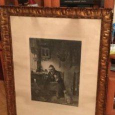 Arte: AUTÉNTICO GRABADO OLD STRAD. LONDRES 1864. FIRMADO LIONEL J COWEN. VIEJO STRAD. Lote 128988567