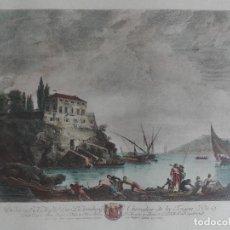 Arte: GRABADO ILUMINADO DEDICADO AL DUQUE DE ARENBERG CABALLERO DEL TOISON DE ORO - SIGLO XIX - ENMARC. Lote 45117880