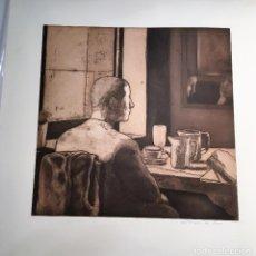 Arte: GRABADO AL AGUAFUERTE POR MONIQUE DE ROUX (BOULOGNE-BILLANCOURT 1946) FIRMADO A MANO. Lote 129111891