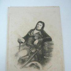 Arte: ANTIGUO GRABADO GALVAN DE GOYA - DON MANUEL DE GODOY - PRINCIPE DE LA PAZ. Lote 129178903