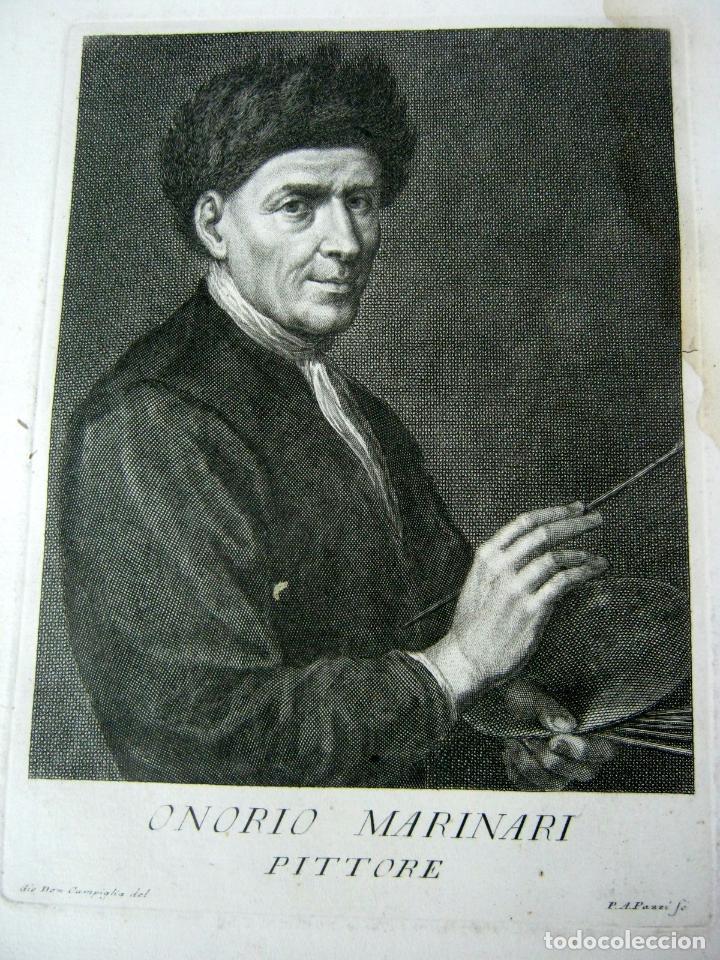 Arte: 50 cm - lote 5 impresionantes grabados s.XVIII pintores de epoca - Carlo Gregori y Antonio Pazzi - Foto 6 - 129325139