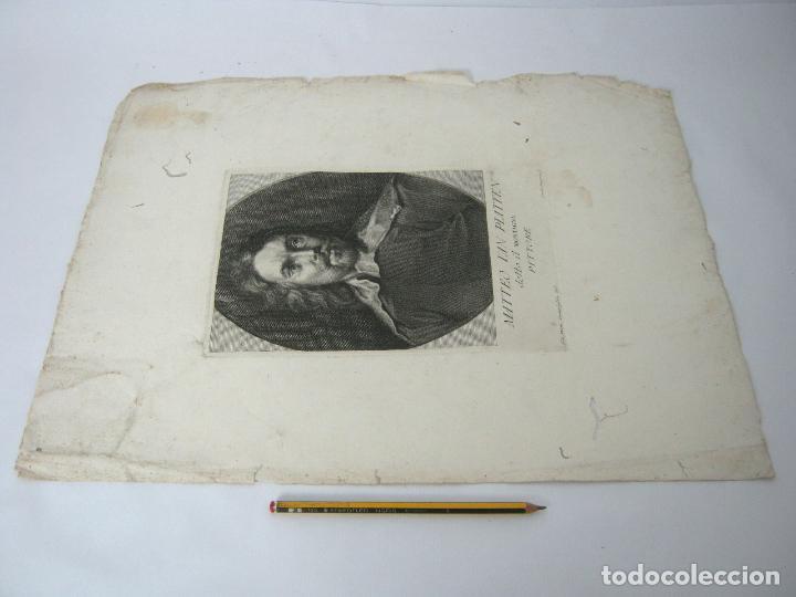 Arte: 50 cm - lote 5 impresionantes grabados s.XVIII pintores de epoca - Carlo Gregori y Antonio Pazzi - Foto 7 - 129325139