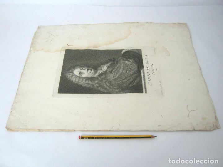 Arte: 50 cm - lote 5 impresionantes grabados s.XVIII pintores de epoca - Carlo Gregori y Antonio Pazzi - Foto 8 - 129325139