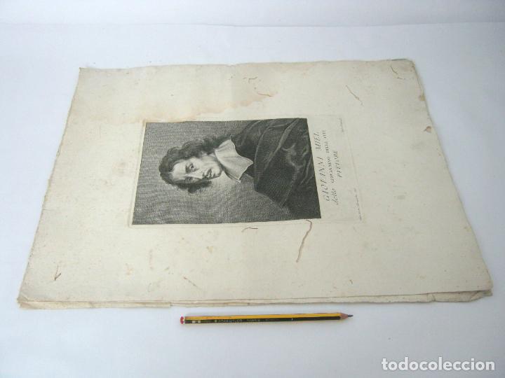 Arte: 50 cm - lote 5 impresionantes grabados s.XVIII pintores de epoca - Carlo Gregori y Antonio Pazzi - Foto 9 - 129325139