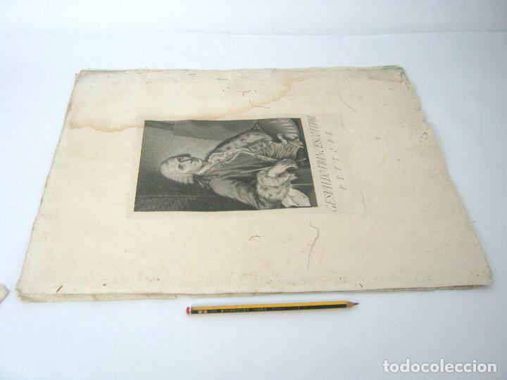 Arte: 50 cm - lote 5 impresionantes grabados s.XVIII pintores de epoca - Carlo Gregori y Antonio Pazzi - Foto 10 - 129325139