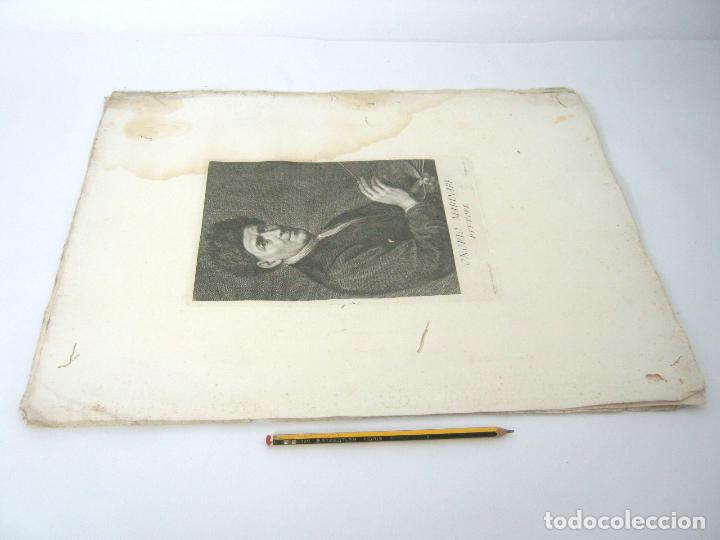 Arte: 50 cm - lote 5 impresionantes grabados s.XVIII pintores de epoca - Carlo Gregori y Antonio Pazzi - Foto 11 - 129325139