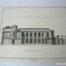 Arte: GRABADO S.XVIII ARQUITECTURA ARCHITECTURE. Lote 129325671