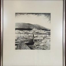 Arte: PAISAJE DE CADAQUÉS. GRABADO SOBRE PAPEL. JOAN GUARDIOLA. 1977.. Lote 129421671