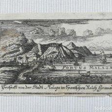 Arte: GRABADO DE MALAGA - AÑO 1700 - ORIGINAL . Lote 129428603