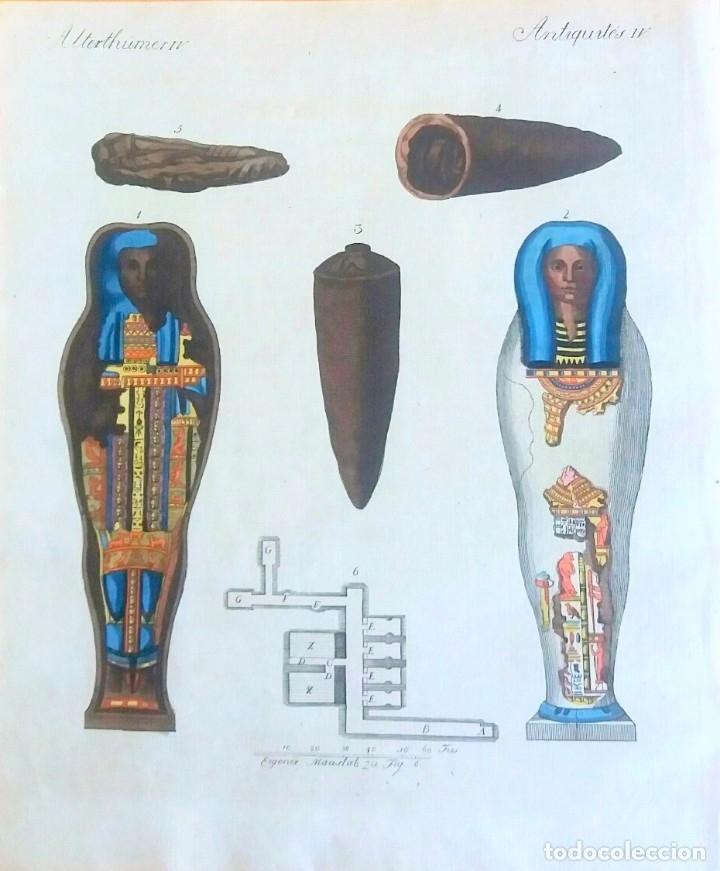 GRABADO ANTIGUO MOMIAS EGIPCIAS 1799 CON CERTIF. AUTENTICIDAD. GRABADOS ANTIGUOS MOMIAS EGIPCIAS (Arte - Grabados - Antiguos hasta el siglo XVIII)