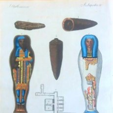 Arte: GRABADO ANTIGUOS SEPULCROS EGIPTO 1799 CON CERTIF. AUTENTICIDAD. GRABADOS ANTIGUOS MOMIAS EGIPCIAS. Lote 91996590