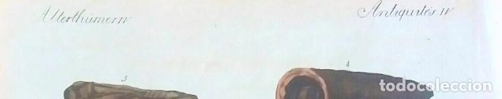 Arte: Grabado antiguo momias egipcias 1799 con certif. autenticidad. Grabados antiguos momias egipcias - Foto 4 - 91996590
