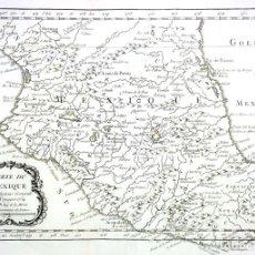 Arte: CARTE DU MEXIQUE. GRABADO. M.B. (JACQUES NICHOLAS BELLIN?). FRANCIA. 1754. Lote 129519559