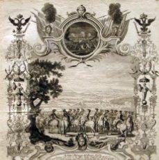 Arte: PASO DEL RIO ESCALDA (BÉGICA). GUERRA SUCESIÓN DE ESPAÑA, 1720. DECKER/WOLLF/CORVINUS. Lote 129652203