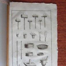 Arte: 1765-TRABAJO CON ARCILLA. ALFARERÍA. ALFARERO.VASIJAS.HERRAMIENTAS.ÚTILES.GRABADO ORIGINAL.GRANDE .1. Lote 129653671