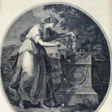 Arte: TOMBA DI SHAKESPEAR. GRABADO. FRANCESCO DEL PEDRO. ED. CAVALLI. VENECIA. SIGLO XVIII.. Lote 129983475