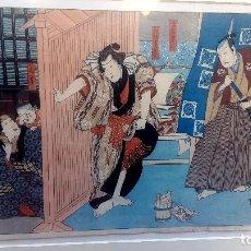 Arte: GRABADO JAPONES - SIGLO XVIII - XIX. Lote 130036275