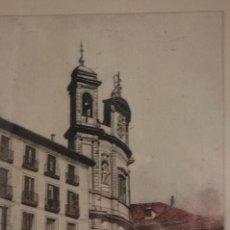 Arte: RAFAEL RODRIGUEZ DE RIVERA (MADRID 1959). GRABADO DE 17X24 ENMARCADO EN 59X69. 38/175. BUEN ESTADO.. Lote 130047779