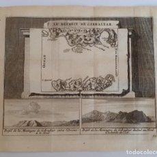 Arte: ESTRECHO DE GIBRALTAR / GRABADO DE 1715 DE LES DELICES DE L'ESPAGNE ET DU PORTUGAL. Lote 130224918