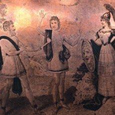 Arte: PLANCHA DE COBRE S.XVIII PROMETHEUS , MINERVA CONSOLIO HOMINEM VIVIFICAND. Lote 130230530