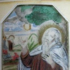 Arte: GRABADO COLOREADO A MANO S.XVII. SAN P. ELÍAS POR CORNELIS VAN MERLEN.. Lote 130306486