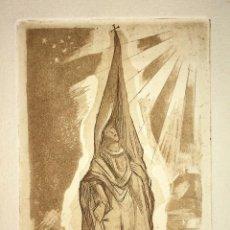 Arte: RAFAEL DE CASANOVA. GRABADO A COLOR SOBRE PAPEL. FIRMADO (FRANCESC) DOMINGO. BRASIL 1975. Lote 130336086
