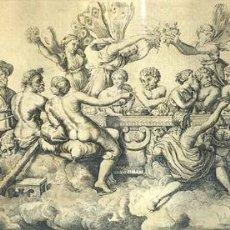 Arte: CVPIDINIS ET PSYCHES NUPTIALIS CAENA. GRABADO. BALTHAZAR PAVILLON. FRANCE. XVII. Lote 130422334