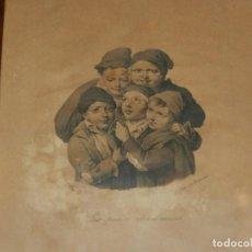 Arte: (M) GRABADO FRANCES S.XIX - LES PETITS RAMONEURS , L. BOILLY , J LUTH DE DELPRECH , MARCO DE EPOCA. Lote 130475794