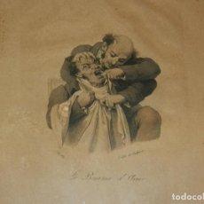 Arte: (M) GRABADO FRANCES S.XIX - DENTISTA LE BAUME D'ACIER , L. BOILLY , J LUTH DE DELPRECH . Lote 130475994