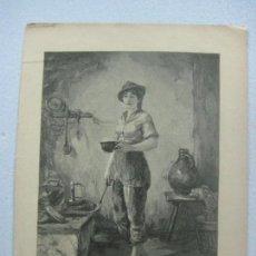 Arte: BONITO GRABADO DE THEODOR VAN DER BEEK (1838-1921) ALREDEDOR DE 1870. Lote 130483634