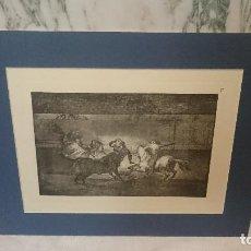 Arte: ESPECTACULARES GRABADOS ORIGINALES DE LAS PLANCHAS DE FRANCISCO DE GOYA. TAUROMAQUIA.. Lote 130487118