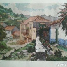 Arte: ACUARELA PINTOR ALBERTO MANRIQUE - 3/150, ENMARCADA MEDIDAS 76 X 52 CM. Lote 130497198