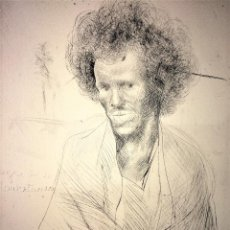 Arte: HOMBRE MAURITANO. GRABADO SOBRE CARTULINA. (FRANCESC) DOMINGO. BRASIL(?) 1945. Lote 130502642