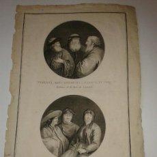 Art: GRABADO DEL ATLAS DEL VIAJE DE LA PEROUSE. HABITANTES. 1787.. Lote 130538156