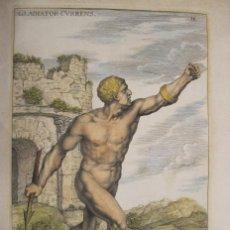 Arte: ESCULTURA ROMANA DE UN GLADIADOR DESNUDO, 1679. SANDRART. Lote 130707059