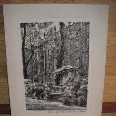 Arte: GRABADO - RAMBLA DE LAS FLORES , PALACIO DE LA VIRREINA. Lote 130754116