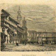 Arte: VITORIA. 1861. GRABADO A LA MADERA (XILOGRAFIA). PUBLICADO EN ANTIGUA REVISTA FRANCESA DE VIAJES. . Lote 130805432
