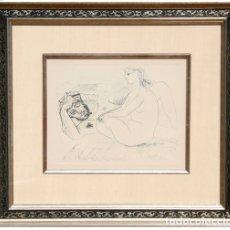 Arte: GRABADO DE PABLO PICASSO, 1952 - VALOR EN GALERIA 2500- LIQUIDACIÓN!!. Lote 130836604