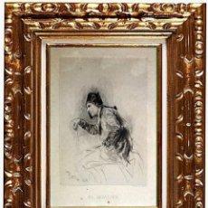 Arte: MARIANO FORTUNY I MARSAL. EL INVALIDO, GRABADO EN PAPEL.. Lote 130866996