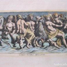 Arte: RELIEVE ROMANO DEDICADO A LAS DIOSAS ROMANAS VENUS Y AFRODITA, 1679. SANDRART. Lote 130988760