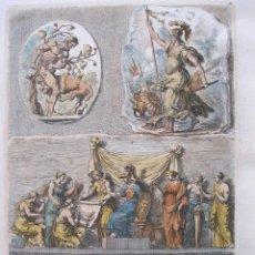 Arte: ESCENAS MITOLÓGICAS DE LOS DIOSES ROMANOS, HÉRCULES Y MINERVA, 1679. SANDRART. Lote 130989140