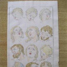 Arte: ESTUDIO DE LAS EXPRESIONES Y EMOCIONES DEL ROSTRO HUMANO, 1679. SANDRART. Lote 130989404