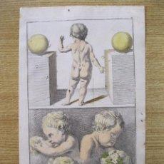 Arte: PEQUEÑOS ÁNGELES DESNUDOS, 1679. SANDRART. Lote 130989980