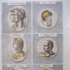 Arte: RETRATOS DE PERSONAJES FAMOSOS II, 1679. SANDRART. Lote 130990996