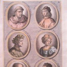 Arte: RETRATOS DE ARTISTAS II, 1679. SANDRART. Lote 130991356