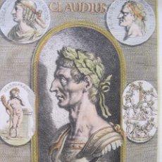 Arte: RETRATO DEL EMPERADOR ROMANO CLAUDIO, 1679. SANDRART. Lote 131075892
